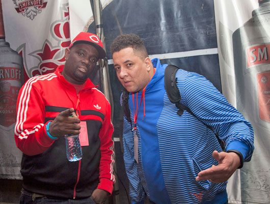 G-Money backstage with DJ Semtex