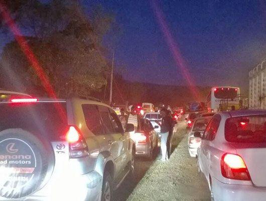 It was traffic jam all through to Machakos