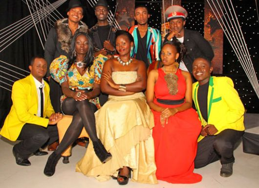 The remaining contestants L-R: Amos,Hisia,Daisy,Kojjo,Fiona,Hope,Nyambura,Patrick and Josh